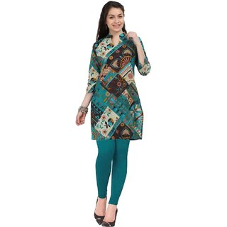 Miraaya Printed Assorted Basic Kurti With Small Patels With Legging