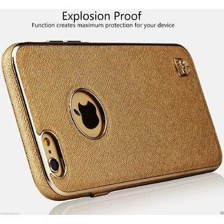 Meephone Leather Back Chrome Design ELEGANT SERIES Back Case For   7 - GOLDEN