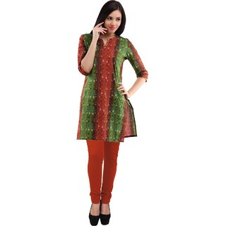 Printed Assorted Chinese Collar Kurta With Legging