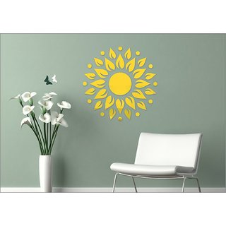 EJA Art Sunshine Golden Genuine 2 mm thickness Pure Cast Quality 3D Mirror Finish Acrylic Sticker