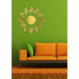 EJA Art Sunraise Golden 3D Mirror Finish Acrylic Sticker