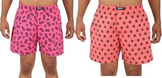 Boxers Printed Cotton Multicolor Shorts