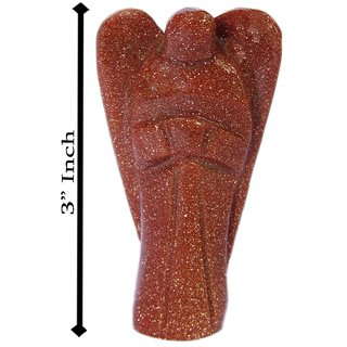 Gomati Ethnic Handicrafts Decorative Sun Stone Angel 3 Inch