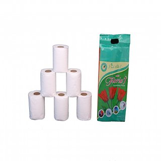 Floria'l Toilet paper Roll (pack of 6)