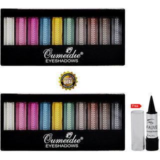 12 Colour Extra Flame Beauty Eye Shadow (Assorted) Buy 1 Get 1 Free With Kajal (No of units 1)