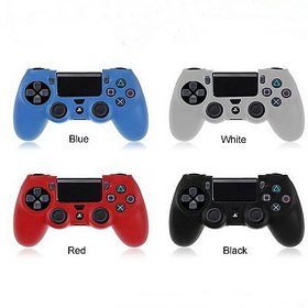 Microware Protective Silicon Rubber Case Cover For PlayStation  PS4  Controller Combo