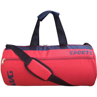 Kvg Black Red Polyester Gym Bag