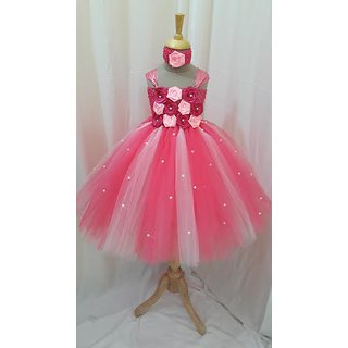 Pink Tutu Frock For Age 3-4