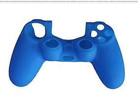 Microware Silicone Protective Skin Case Cover for Sony PlayStation 4 PS4 Controller - Blue