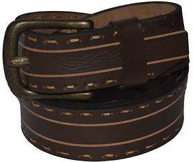 New Trendy Brown Designer Leather Belt