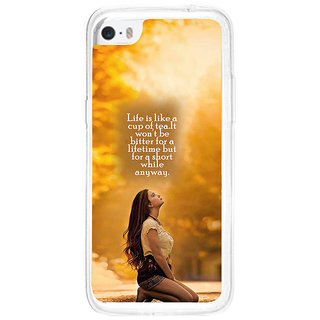 ifasho young Girl with quote Back Case Cover for   5C