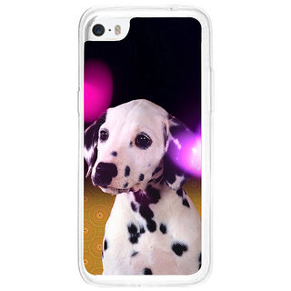 ifasho Black and White Dot Dog Back Case Cover for   5C