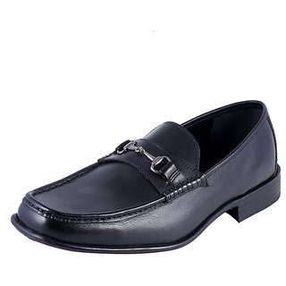 Urban Country Men Black Slip on Formal Shoes