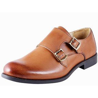 Urban Country Men Black Buckle Formal Shoes