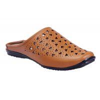 Leather Park Men's Tan Back Lace Sandal