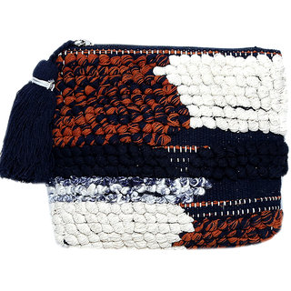 Diwaah Beautifully Handcrafted Casual Cotton Multi Color Rug Zip Top With Zip (DWH000000811)