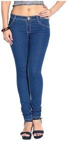 Casual Slim Fit Denim Jeans For Women