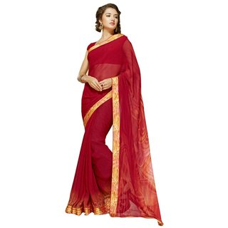 Roop Kashish Multicolor Georgette Printed Saree With Blouse