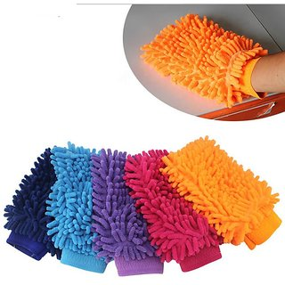 TRADERS5253 Microfiber Cleaning Dusting Glove For Home Office Kitchen Car Etc.