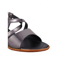 Bruno Manetti Women Grey Synthetic Leather Sandals - 101508380