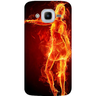 GripIt Girl On Fire Printed Case for Samsung Galaxy J2 (2016)
