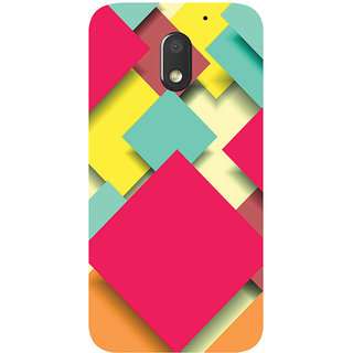 GripIt Square Papers Abstract Printed Case for Motorola Moto E3