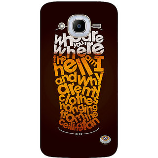 GripIt Non Beer Printed Case for Samsung Galaxy J2 (2016)