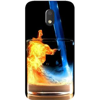 GripIt Fiery Whiskey Printed Case for Motorola Moto E3
