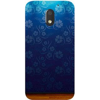 GripIt Flower Wallpaper Printed Case for Motorola Moto E3