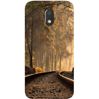 GripIt Forest Train Track Printed Case for Motorola Moto E3