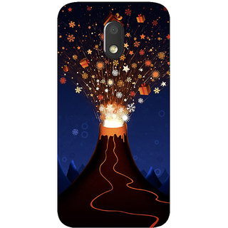 GripIt Volcano of Gifts Printed Case for Motorola Moto E3