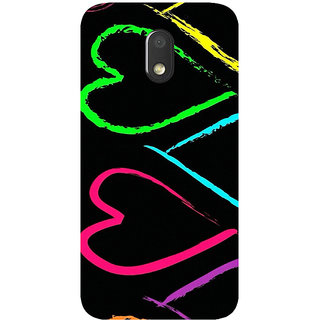 GripIt Heart Colour Printed Case for Motorola Moto E3