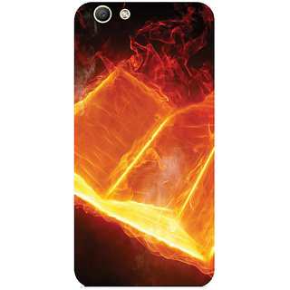 GripIt Book From Fire Printed Case for Oppo F1s