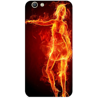 GripIt Girl On Fire Printed Case for Oppo F1s