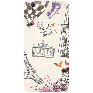 GripIt Paris Art Printed Case for Oppo F1s