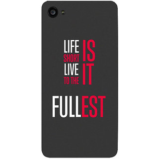 GripIt Life Is Short Printed Case for Lenovo Zuk Z2 Plus