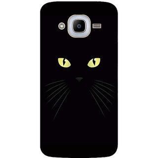 GripIt Black Cat Eyes Printed Case for Samsung Galaxy J2 (2016)