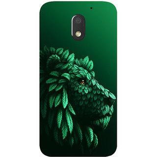 GripIt Lion in the Leaves Printed Case for Motorola Moto E3
