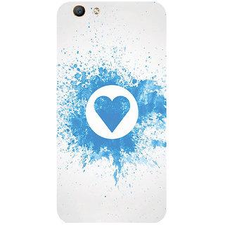 GripIt Splash Heart Pattern Printed Case for Oppo F1s