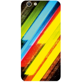 GripIt Stripped Colors Printed Case for Oppo F1s