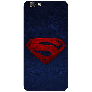 GripIt Superman Logo Printed Back Cover for Oppo F1s