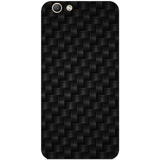 GripIt Thick Black Weaved Printed Case for Oppo F1s