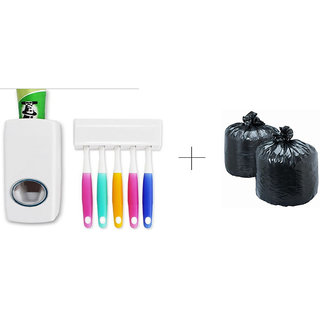 Buy Toothpaste Dispenser With Free Disposables Garbage Bag 60 Pcs - TTHGRB60