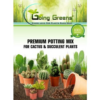 Going Greens Premium Potting Mix for Cactus and Succulent Plants 800 gm