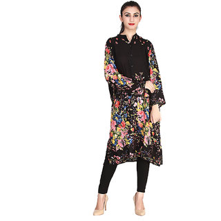 2105	-100 Rayon, Ban Collar /Chineese Collar With Front Open  Tunic/Kurti/Top
