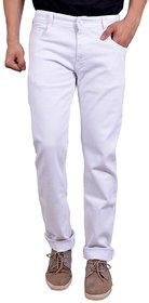 White Men's Regular Fit Jeans