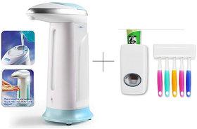 Buy 1 Pc Soap Dispenser With Free Toothpaste Dispenser  - SPIS1THSK1