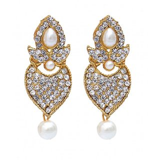 White Designer Hanging Earring