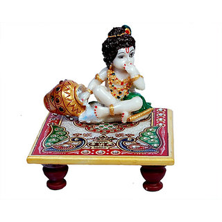 Krishna on Marble Chowki