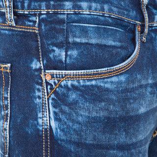Locomotive Blue  Slim Fit Mid Rise Jeans For Men